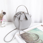 Handbags Casual Makeup Pu Leather Crossbody Round Handbags Mini Shoulder Bag For Women