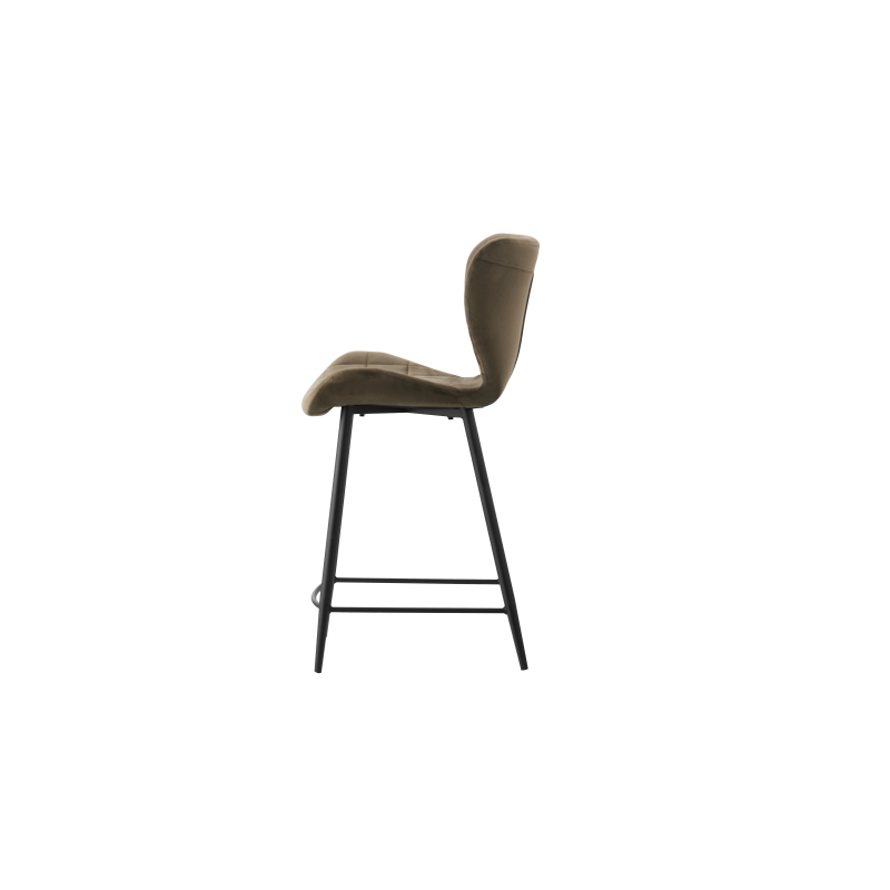 2021 new hot sale modern bar stools grey fabric dining chairs