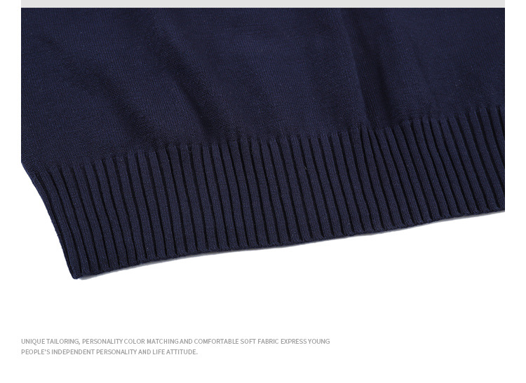 Crewneck High Quality Jumper Pullover Jacquard Knitwear Men Sweater Cotton