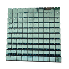 Wedding party decoration materials light green square sequin panels boards for wall