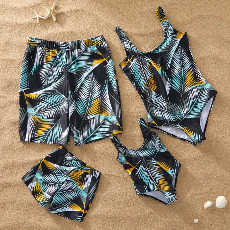Conjunto De Bikini De 3 Piezas Para Mujer Banador Familiar Pantalones Cortos De Playa Para Hombre Parejas Ninos Y Ninas Traje De Bano Buy De Dos Piezas Traje De Ninas Nino Traje De Nino Product On