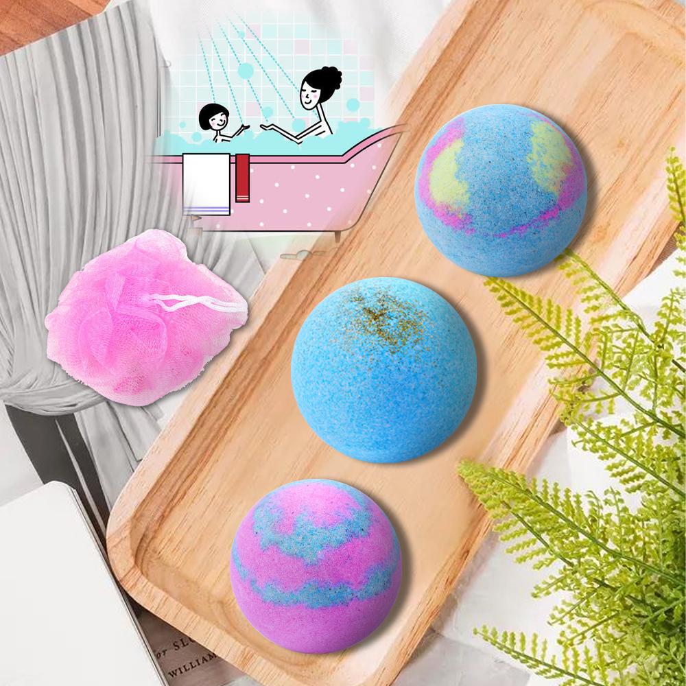 OEM ODM Bath Bombs 12 Pcs Gift Set Packaging Rich Bubble Fizzer Bathbombs Home Spa Skin Care Moisturizing Rainbow Bath Bomb Kit