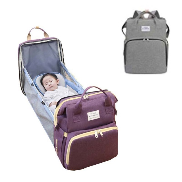 Mother baby sleeping diapers bag newbron carry bed organic diaper nappy accessory clothes traveling bag pack manufacturer