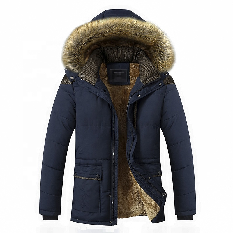 2021 High Quality Mens Winter Thicken Cotton Plus Size Jacket Warm Puffer Hooded Down Jacket