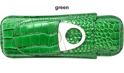 2020 amazon hot selling style alligator grain leather cigar case for sale