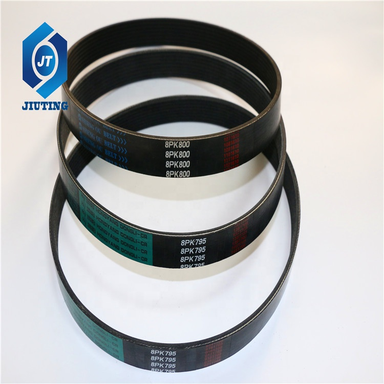 China factory engine fan belt auto parts endless rubber v-belt For ZHONGQI Spare Parts
