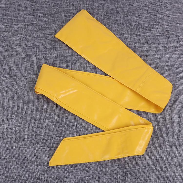 Широкий пояс из искусственной кожи для женщин, пояс из искусственной кожи с запахом вокруг пояса и бантом, широкий пояс разных цветов на выбор