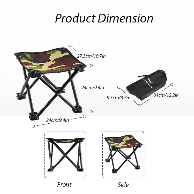 Легкие стулья, портативное сиденье для взрослых, рыбалка, пеший туризм, садоводство и пляж, Маленький стул для кемпинга, мини-стул