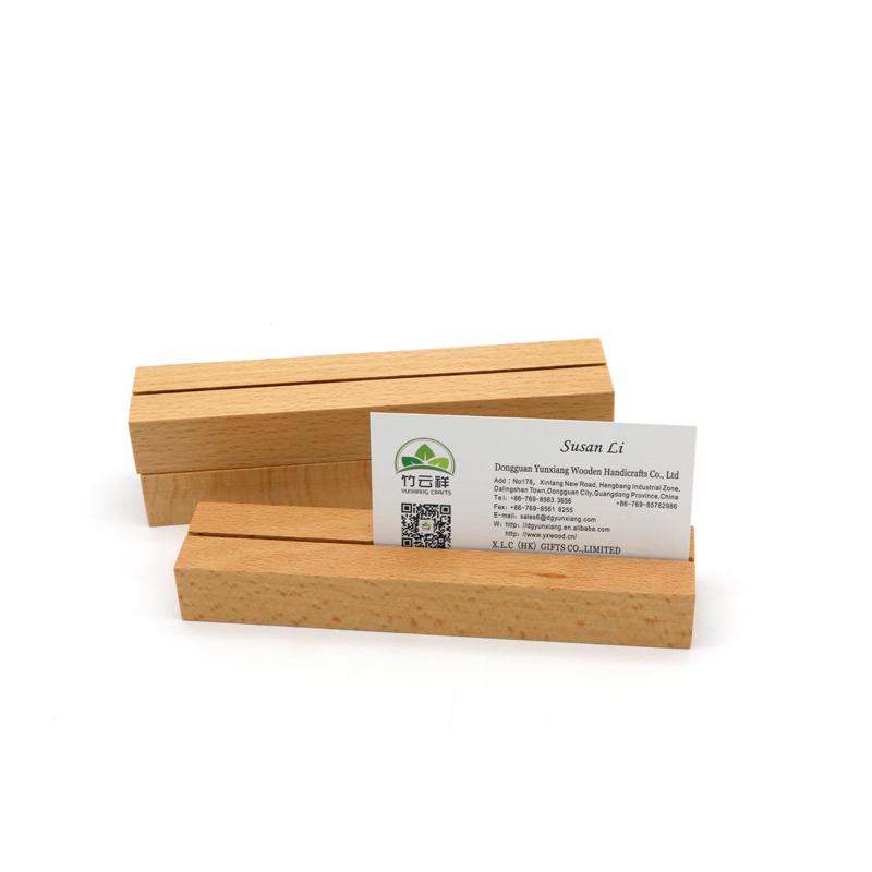Wood  card holderDisplay stand Card holderWood menu standPhoto holder