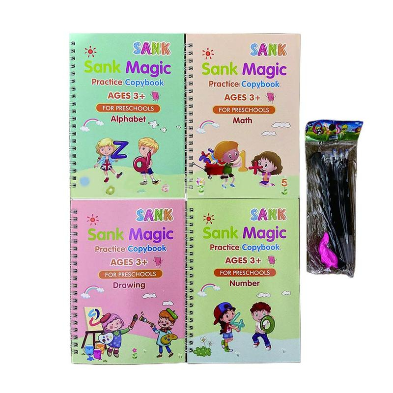 Magic Calligraphy Reused Handwriting Copybook Set for Kid Calligraphic Letter Writing Art Supplies
