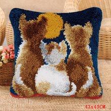 Наборы для кошек и собак, набор для рукоделия, подушка для вышивки ковров, распродажа, Smyrna, подушка, кнопка, посылка, сделай сам, ковер(Китай)