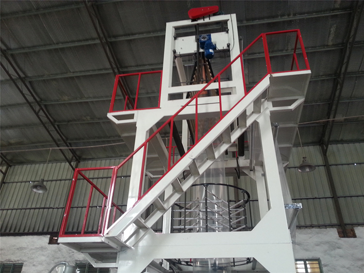 LDPE HDPE PE extruder machine pe film blowing machine plastic bag production line