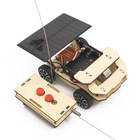 STEM remote control car kids solar educational toys wooden
