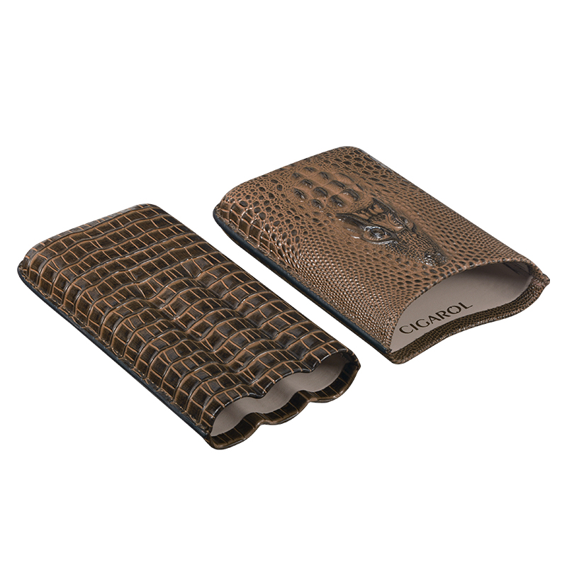 Volenx дорожный портативный высококачественный крутой дизайн под заказ логотип сигара кожаный чехол