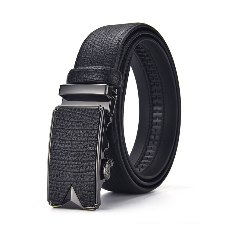 Belts leather men automatic buckle custom logo wholesale high quality mens leather belt automatic buckle