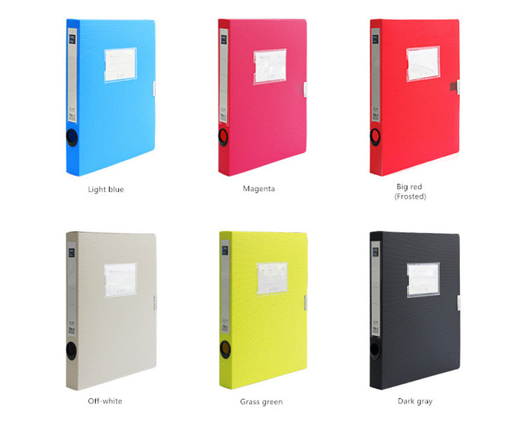 Factory Direct Color A4 Storage Archives Cases File Boxes Plastic with Lid, Box File