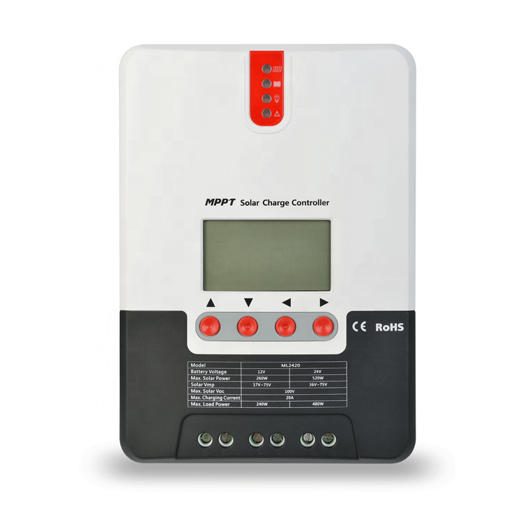 New Arrival CE ROHS 20A 20 AMP 12V 24V Gel and Lithium  MPPT Solar Charge Controller MPPT