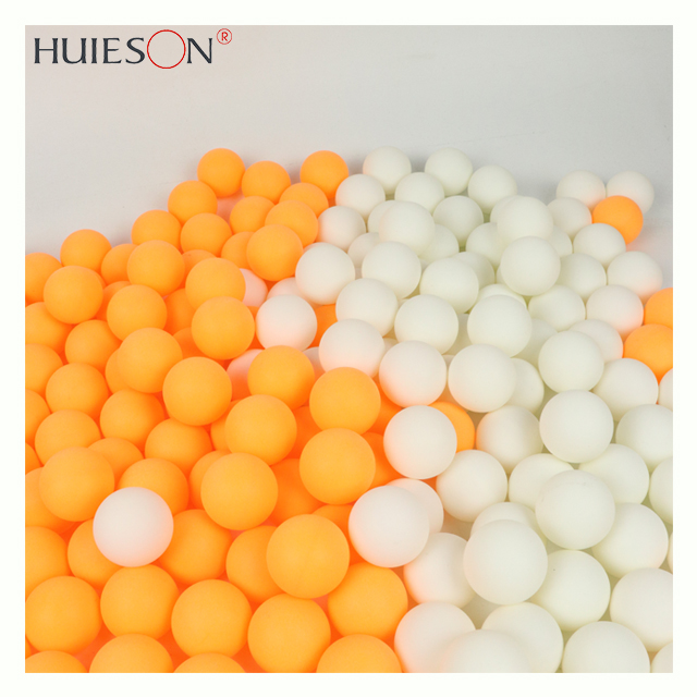 HUIESON 50pcs/bag OEM New Material ABS Plastic Custom Printing Logo Cheap 1 2 Stars 40+ Training Ping Pong Table Tennis Ball