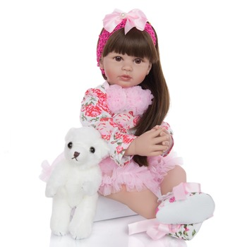 60 cm Exquisite Princess Silicone Soft Vinyl Reborn Baby Doll Toys for Girl