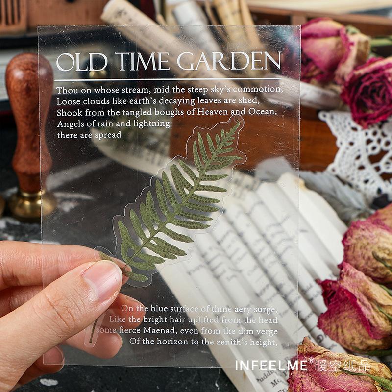 40 pcs/bag vintage Plant flowers INS style PET sticker bag package DIY diary decoration sticker