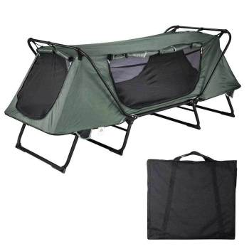 1-Person Folding Cot Outdoor Waterproof Hiking Bed Camping Tent
