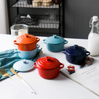 Household Ceramic Cookware Multifunction Small Size Ceramic Casseroles Ceramic Bowl Cooking Pot Cookware For Household