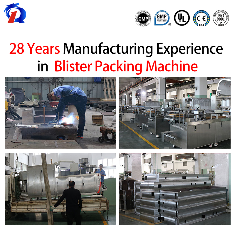 Pharmaceutical Hot Sealing Blister Packing Machine For Packaging Medical Material Disposable Injection Syringes