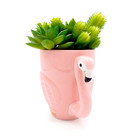 pink ceramic flamingo shape flower pot wholesale plant container home decoration planter for garden