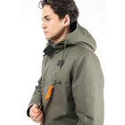 Jackets Pockets Jacket Custom Long Parka Jackets Winter Quilted Padding With Multi Pockets Parka Jacket Wth Hood Stand Collar Hoody