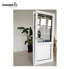 Glass Window Aluminium Casement Customized Aluminum Wood Double Glass Inward French Casement Horizontal Opening Tilt And Turn Window