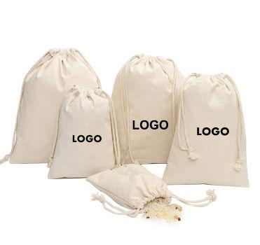 Сверхмощный рекламный Хлопковый мешок на шнурке, индивидуальный Подарочный мешок на шнурке