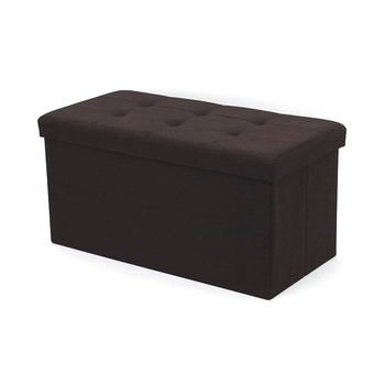 RTS Multifunctional Faux Linen Folding Large Storage Stool Rectangle Bench Ottoman Bed