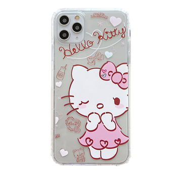 Cute kitty cat cartoon phone case for iPhone 11Pro Max case