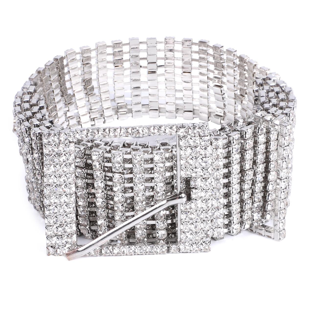 Bling Shiny Belt Full Chain Crystal belt Diamond Rhinestone Studded Sexy Club Pants Jeans Fashion Metal Stylish Belt