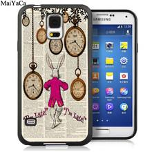 MaiYaCa Алиса в стране чудес цитаты мягкие резиновые телефонные чехлы для samsung Galaxy S5 S6 S7 edge S8 S9 S10 Plus Lite Note 9 5 8 чехол(Китай)