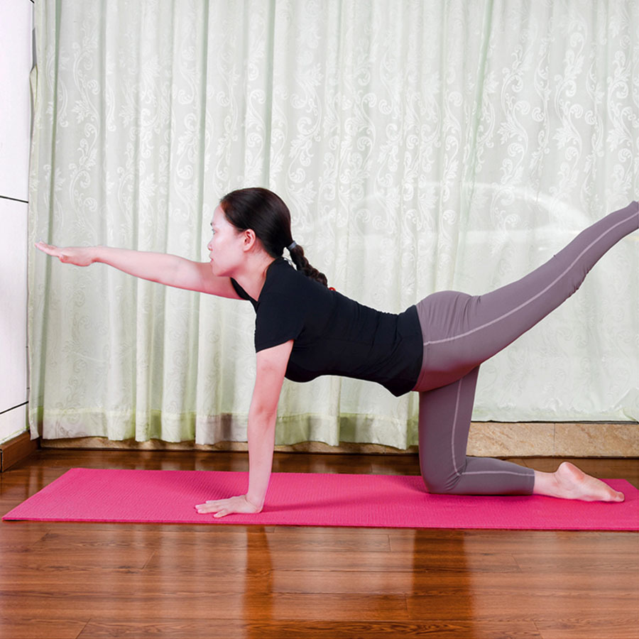 2021 amazon, Лидер продаж, удобный мягкий коврик для йоги высокой плотности V509 из ПВХ