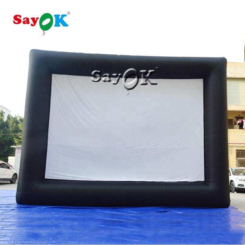 Наружный надувной проекционный экран, портативный надувной экран для видеосъемки, продажа экранов для кино