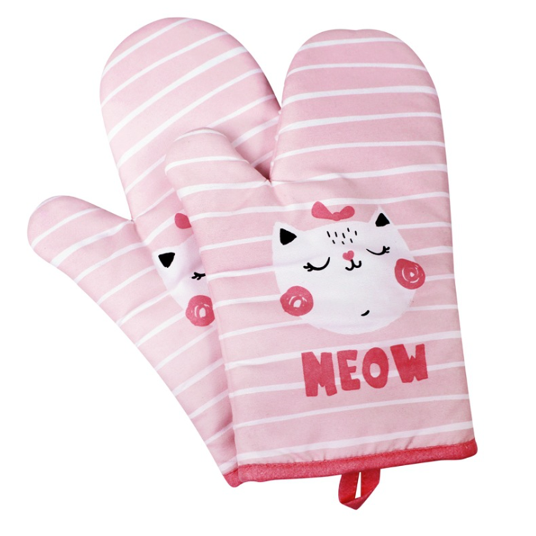 Non-Slip Kitchen Oven Mitts Heat Resistant Cooking Oven mitts for Cooking/Baking