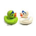 Duck Duck Baby Bath Toy Customized Color Soft Toy Style Duck Baby Teether Bath Toy BPA Free