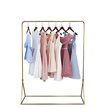 Luxury Clothing Store Display Rack Metal Hanging Women Clothes Display Racks for Garment Shop Furniture