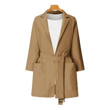 Женские офисные блейзеры ZANZEA, офисные блейзеры с поясом, весна-осень 2020, пальто с длинным рукавом, пиджаки 5XL(Китай)