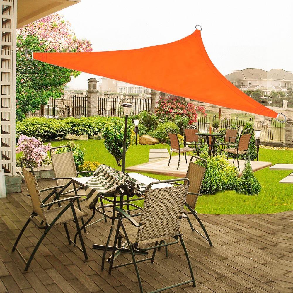 6,5 футов * 6,5 футов * 6,5 футов устойчивый к ультрафиолетовому излучению водонепроницаемый садовый солнцезащитный парус из Китая