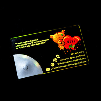 Custom Vip Member Transparent Acrylic Led Credit Card Business Card