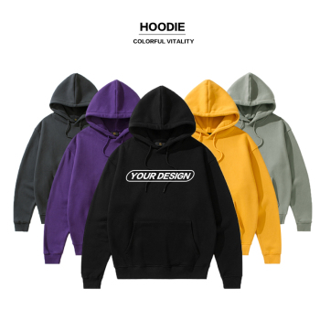 High quality men's oversized street style pullovers custom embroidered hoodies