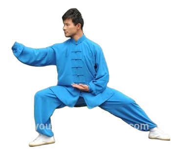 KungFu uniform Wushu TaiChi Taiji Light Blue XLsize Shaolin suit Chinese Kung