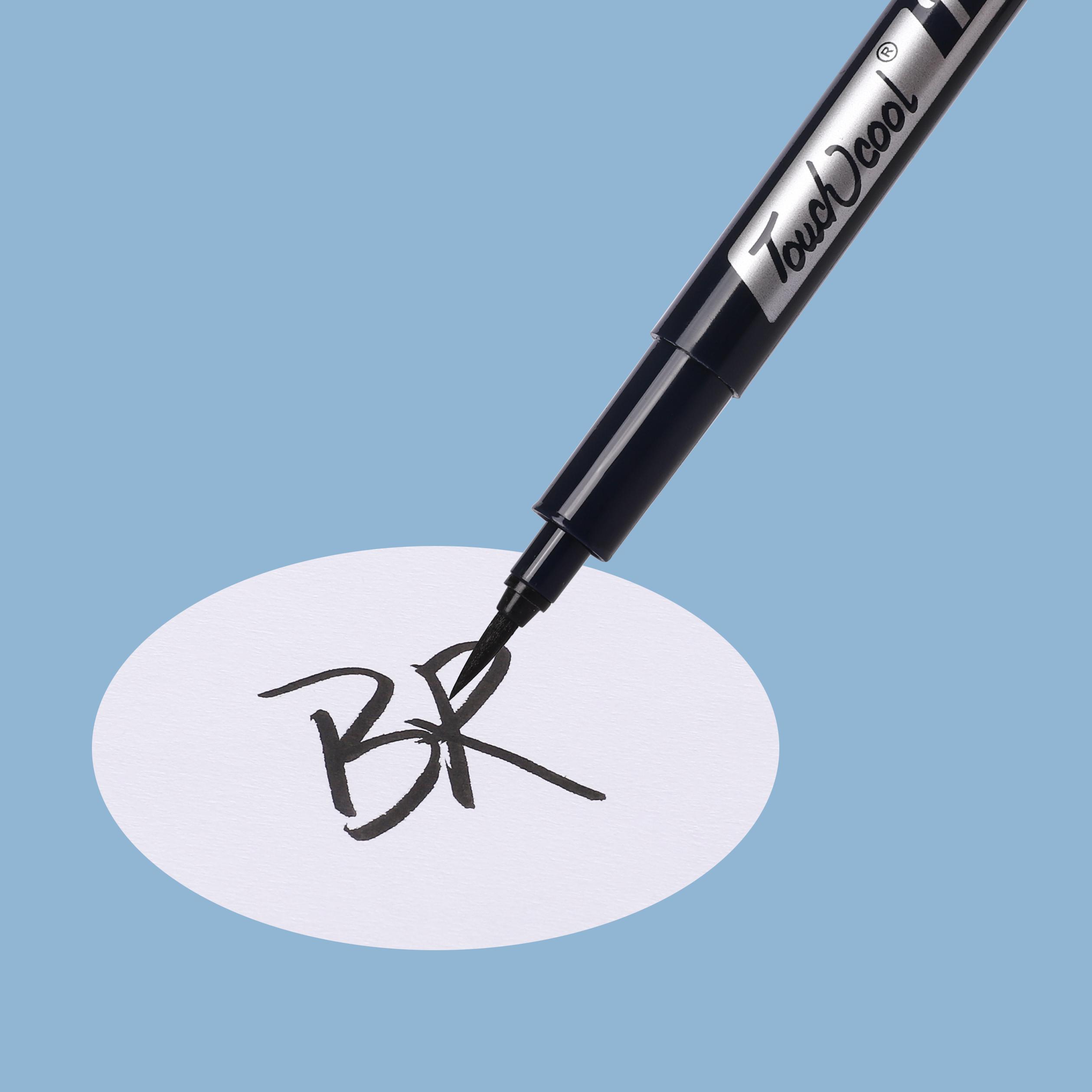 Лидер продаж на Amazon, 12 мм, круглые перманентные маркеры с разными наконечниками, черная маркерная ручка для детей