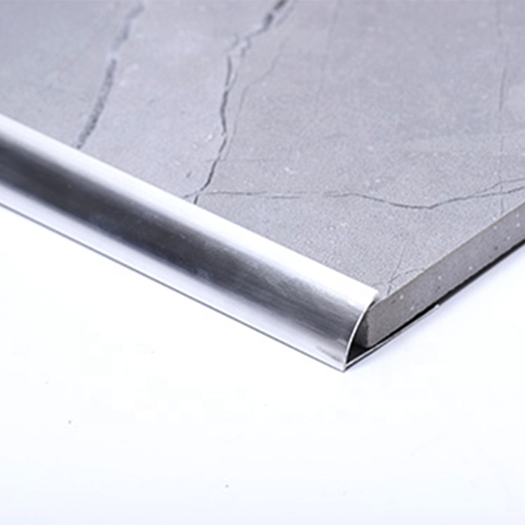 Misumi custom flexible 90 degree I shape bright silver aluminum stainless steel metal angle gold tile edge trim profile