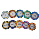 Poker 100 Custom Casino Coin 500 Round 14g Clay Luxury Poker Set Pokerchips Monte Carlo Poker Chip