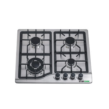 Built-in Gas hob Table cooktop 4 burner stainless steel pulse ignition