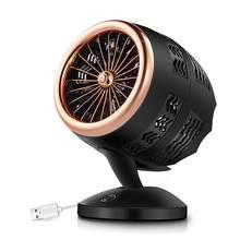 USB маленький вентилятор, циркуляционный вентилятор с воздушным конвекцией, два механизма, портативный 5 Вт Мини 5 Гц воздух 7 дюймов 51-70дб охл...(Китай)